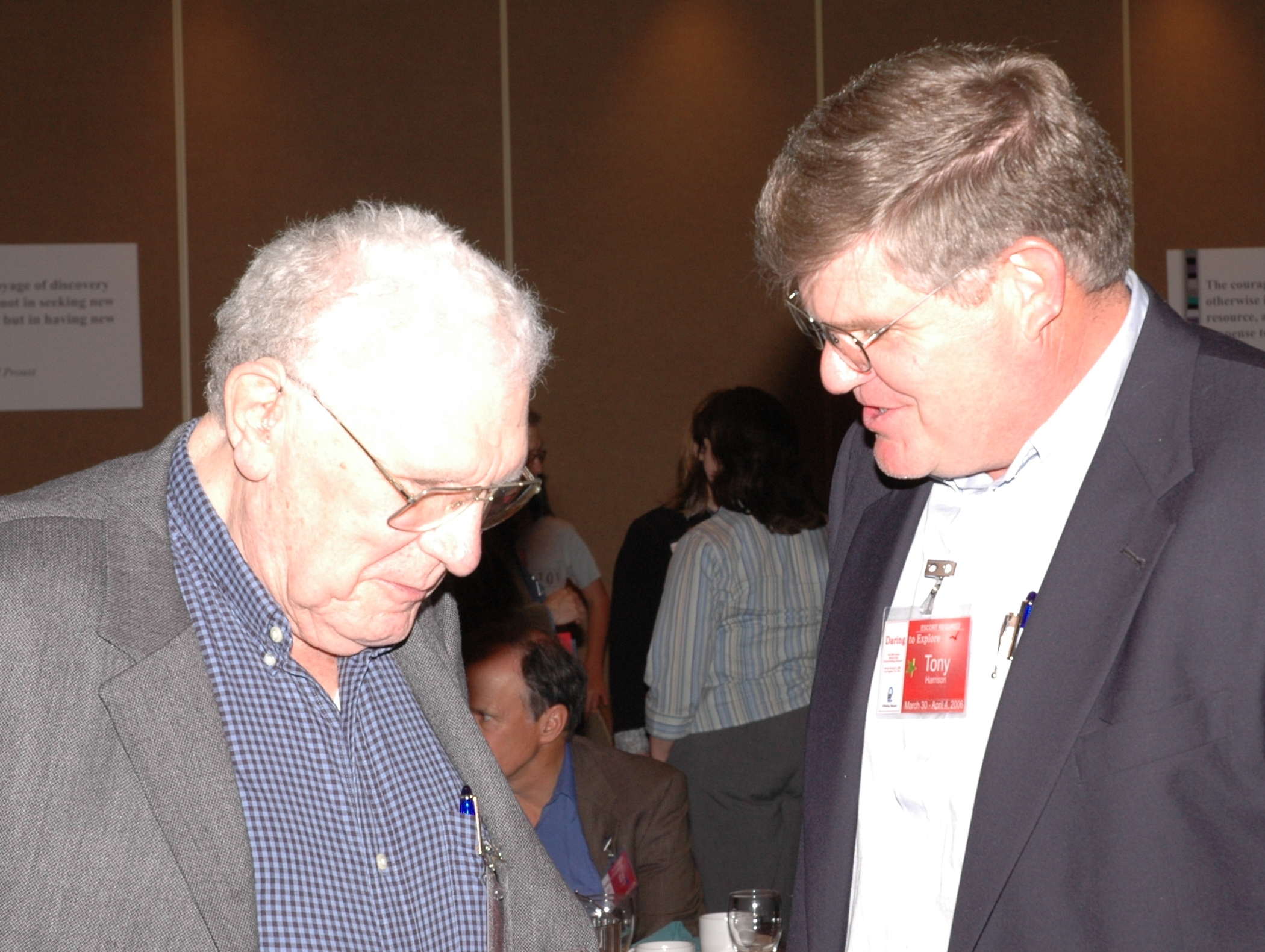 Tony Harrison and Russ Ackoff at 2006 Fourm
